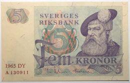 Suède - 5 Kronor - 1965 - PICK 51a.1 - NEUF - Suède