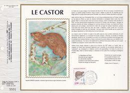 CEF Feuillet  N° 1058 Soie  -  LE CASTOR  -  Stes-MARIE -de- La -MER   14 Sept. 1991 - Documentos Del Correo
