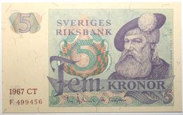 Suède - 5 Kronor - 1967 - PICK 51a.3 - NEUF - Suède