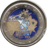 SV20014.2 - SLOVENIE - 2 Euros Commémo. Colorisée Couronnement De Barbe De Cilley - 2014 - Eslovenia