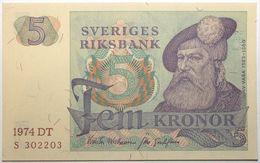 Suède - 5 Kronor - 1974 - PICK 51c.3 - NEUF - Suède