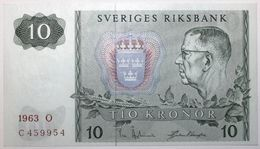 Suède - 10 Kronor - 1963 - PICK 52a - NEUF - Suède