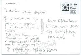 2012 St.Trope - France Postcard Canceled Freiburg -nice Post Label ECONOMY SPI - Switzerland