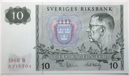Suède - 10 Kronor - 1968 - PICK 52b.2 - NEUF - Suède