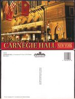 New York NY - Post Card - Carnegie Hall - Circa 1970 - Non Circulee - Cygnus - Manhattan