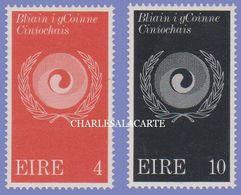 EIRE IRELAND 1971  COMBAT RACISM S.G. 307-308  U.M. - Nuovi