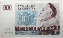 Suède - 100 Kronor - 1974 - PICK 54b.3 - TTB+ - Suède