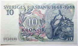 Suède - 10 Kronor - 1968 - PICK 56a - SUP+ - Suède