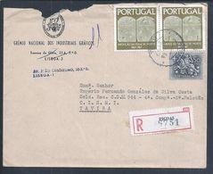 Carta Registada Das Picoas, Lisboa, Tavira 1968. Stamps Dos 100 Anos Da Abolição Da Pena De Morte Em Portugal. Death Pen - 1910-... République