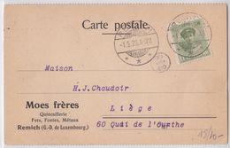 Carte Postale Publicité Moes Frères Remich Luxembourg - Cartas