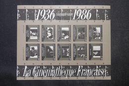 FRANCE - Bloc De 1986 Cinquantenaire De La Cinémathèque Française Non Dentelé - Rare - P 22838 - France