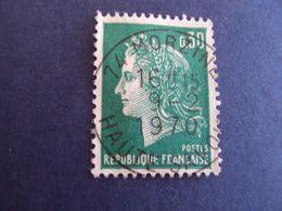 """1967-70 MARIANNE CHEFFER, Timbre Oblitéré N° 1611 A """" 0.30  Vert """"  Net  0.70   """"   Morzine, 74 """" - 1967-70 Maríanne De Cheffer"""