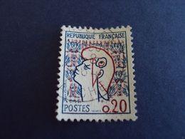 """1961- Marianne De COCTEAU  , Oblitéré N° 1282   """" 0.20 """"   Net   0.40  """" Carolles Sur Mer, Manche""""   Photo 1 - 1961 Marianne De Cocteau"""