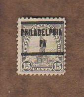 """USA. (Y&T) 1922-25 - N°241. * Statue De La Liberté *   * 15c * Obl """"Philadelphia"""" - United States"""