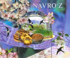 Uzbekistan 2020. Novruz Holiday. Birds. Flowers. Bread.  MNH - Usbekistan