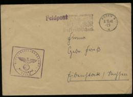 WW II DR Feldpost Polen Militär Briefumschlag : Gebraucht Posen - Eibenstock 1942 , Bedarfserhaltung Ohne Inhalt. - Allemagne