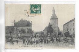 70 - AILLONCOURT - Place De L' église. Belle Animation - Francia