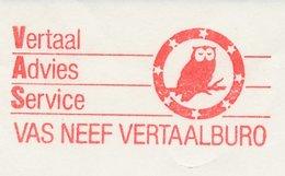Meter Cut Netherlands 1986 Bird - Owl - Unclassified