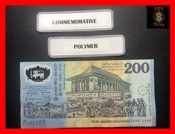 Ceylon - Sri Lanka  200 Rupees  4.2.1998  P. 114 B  *COMMEMORATIVE*  Black Serial   POLYMER  UNC - Sri Lanka