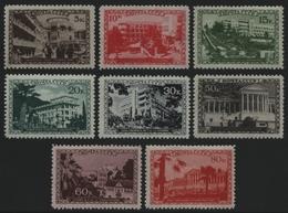 Russia / Sowjetunion 1939 - Mi-Nr. 718-725 ** - MNH - Sanatorien (I) - Nuevos