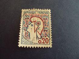"""1961- Marianne De COCTEAU  , Oblitéré N° 1282 A   """" 0.20 """"   Net   0.40  """" Le Croisic, 44"""" - 1961 Marianne De Cocteau"""