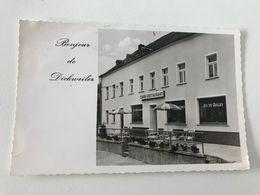 Carte Postale Ancienne BONJOUR DE DICKWEILER Café Urb. Weydert-Glaesener - Ansichtskarten