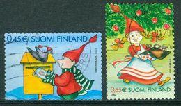 Bm Finland 2003 MiNr 1676-1677 BA (14¼) Used | Christmas - Finland