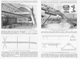 "LE CHEMIN DE FER SUSPENDU De "" BARMEN à ELBERFELD-VOHWINKEL  ( ALLEMAGNE ) "" 1900 - Ferrovie"