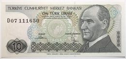 Turquie - 10 Livres Turques - 1982 - PICK 193a - NEUF - Turchia