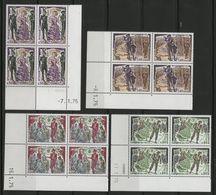 """MONACO N° 1006 à 1009 Cote 18 € 4 Blocs De 4 Neufs ** (MNH) Avec Coin Daté  (voir Descrption). """"Georges BIZET"""". TB/VG - Monaco"""