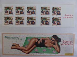 France. Carnet 10 Timbres Autoadhesifs Bc 3578a .bonnes Vacances.annee 2003. N**non Plié. - Stamp Day