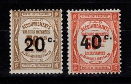 Signés CALVES - Taxe YV 49 & 50 N** Luxe Cote 115 Euros - Postage Due