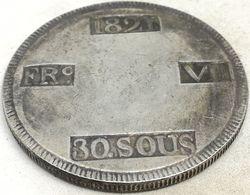 RÉPLICA Moneda 1821. 30 Sous. Rey Fernando VII. Mallorca, España. Guerra De La Independencia Española. Rara - Monnaies Provinciales