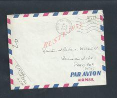 MILITARIA 4 LETTRES AVEC Corp EN FRANCHISE MILITAIRE DU SOLDAT D DUVAL DU 87904 ALGÉRIE POUR Md BILLON PARIS CHÂLET - Guerra De Argelia