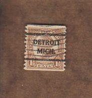 "USA. (Y&T) 1925-31 - N°259d * Harding*   * 11c * Obl ""Detroit"" (anomalie) - United States"