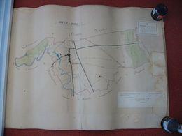 Carte BRIENNE LA VIEILLE  Aube Dessinée Et Aquarelée à La Main Par L'agent Voyageur Cantonal En 1870 - Sonstige Gemeinden