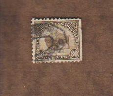 USA. (Y&T) 1922-25 - N°244 * Bison*   * 30c * Obl - United States
