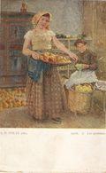 """""""A. De Goltz. Ladies With Apples. Apfel.Les Pommes"""" Fine Arte, Vintage Austrian PC - Femmes"""