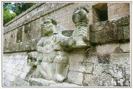 1 AK Honduras * Figure Of The Mayan God IK In Copán - Eine Bedeutende Stadt Der Maya - Seit 1980 UNESCO Weltkulturerbe - Honduras