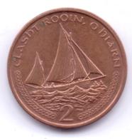 ISLE OF MAN 2000: 2 Pence, KM 1037 - Regionale Währungen