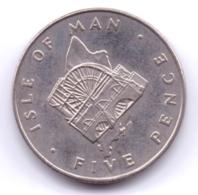 ISLE OF MAN 1977: 5 Pence, KM 35 - Regionale Währungen