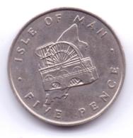 ISLE OF MAN 1976: 5 Pence, KM 35 - Regionale Währungen