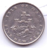 ISLE OF MAN 1975: 5 New Pence, KM 22 - Regionale Währungen