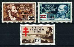 África Ecuatorial (Francesa) Nº 139/40-155*/(*) - Neufs