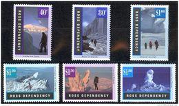New Zealand Ross Dependency Sc# L37-L42 MNH 1996 Landscapes - Ross Dependency (New Zealand)