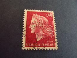 """1967-70 MARIANNE CHEFFER, Timbre Oblitéré N° 1536  B     """" 0.40 Rouge  """"       Net  0.30  """" Tours """" - 1967-70 Maríanne De Cheffer"""