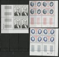 MONACO N° 1043 à 1050 Cote 33.2 € 8 Blocs De 4 Neufs ** (MNH) Avec Coin Daté  (voir Description). Série Complète TB/VG - Monaco