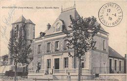 CHARTRETTES - Eglise Et Nouvelle Mairie - Autres Communes