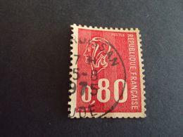 """1971-76 Oblitéré N°  1816    """" Marianne De Bequet, 0.80  Rouge   """" Net 0.30   """" Gruissan, Aude"""" - 1971-76 Maríanne De Béquet"""