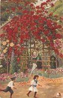 """Boy Pursuing A Girl"" Old Vintage Antique German Postcard - Scènes & Paysages"